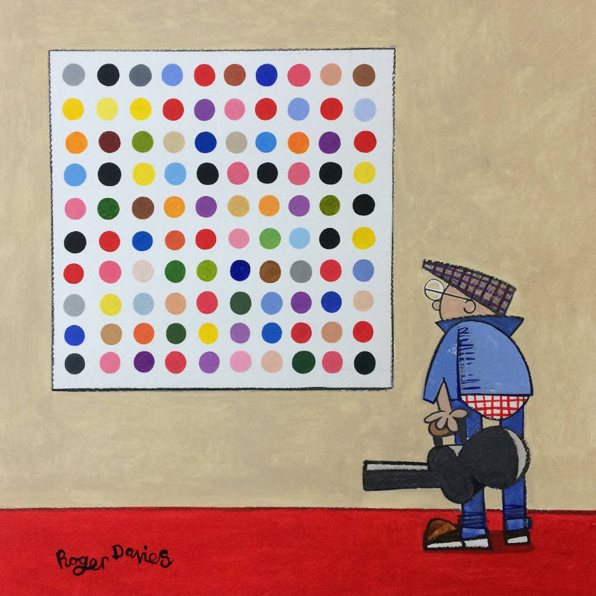 Contemplating A Damien Hirst 'Spot' Painting