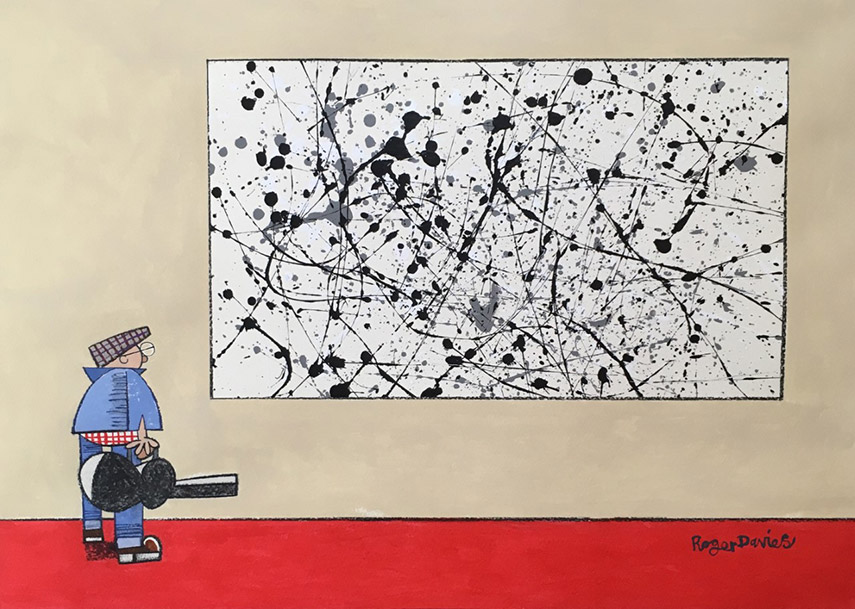 Contemplating A Jackson Pollock Painting
