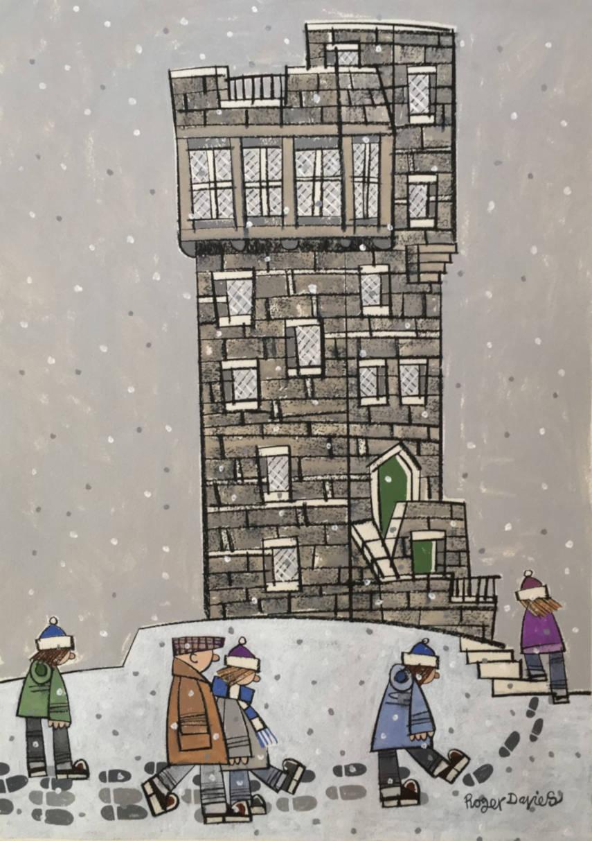 Up Castle Hill, Near Huddersfield In Winter