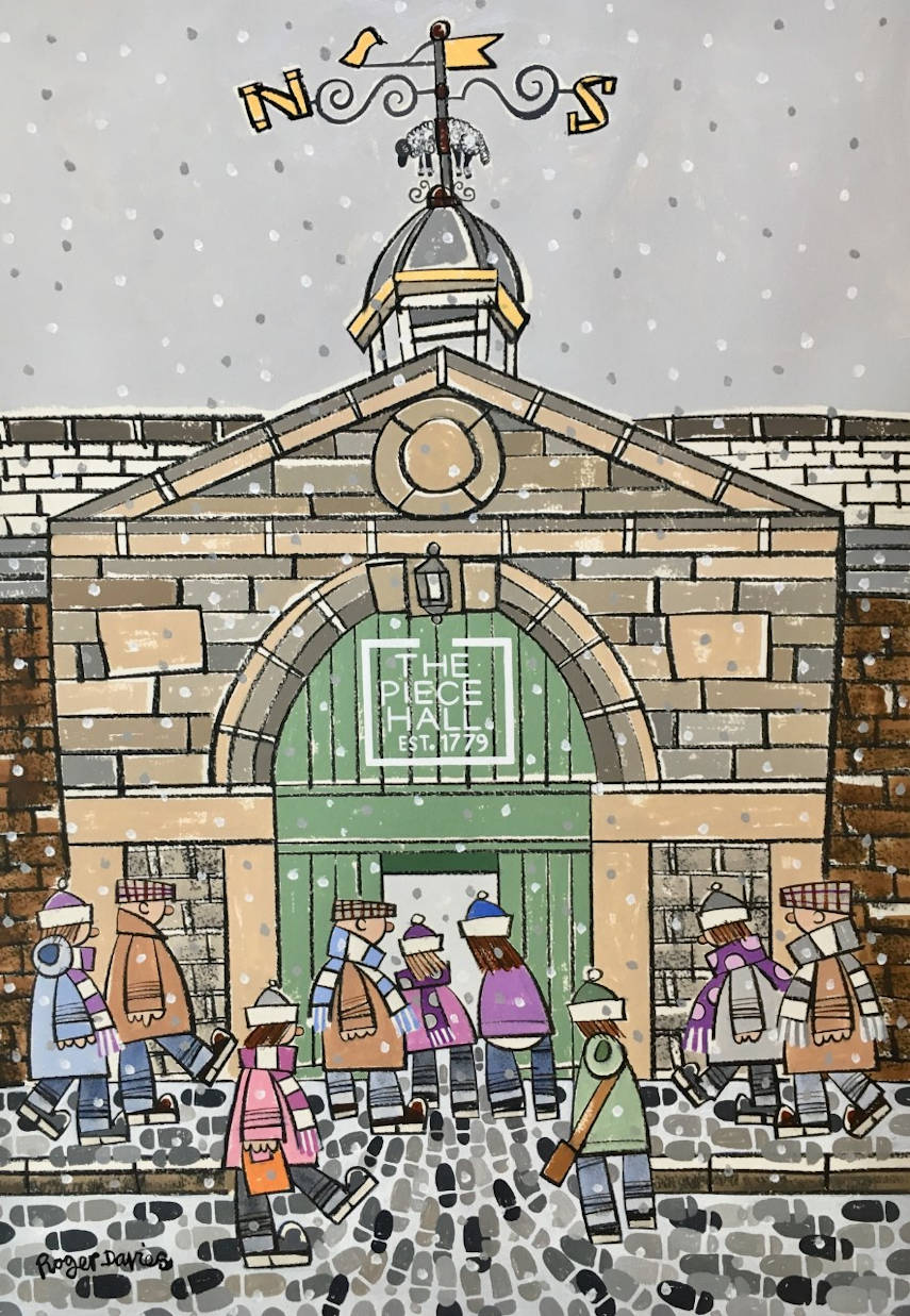 The Piece Hall's West Gate In Winter, In Halifax