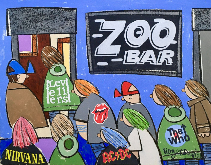 The Zoo Bar in Halifax, in the 90s